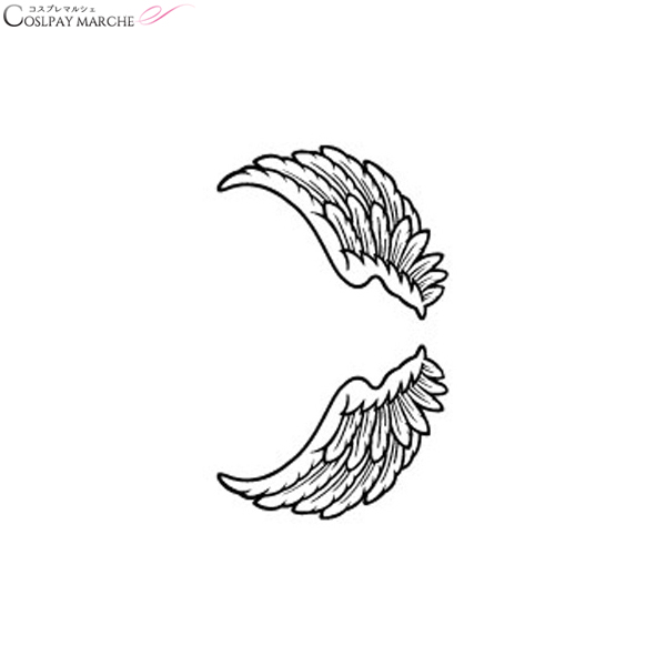 Cosmarche Tattoo Sticker Tattoo Seal Angel Wings And Mini Body Seal
