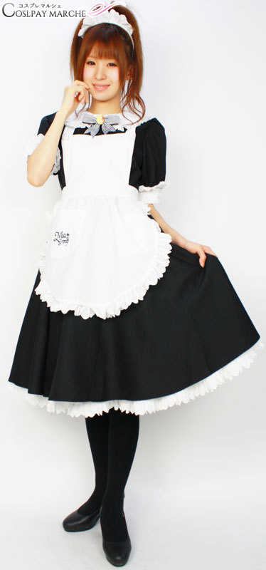 Costume play clothes maid dress black maru-cm0149 for maid costume play u003cu003e costume Halloween clothes maid clothes maid apron black maid headband disguise ...  sc 1 st  Rakuten & cosmarche | Rakuten Global Market: Costume play clothes maid dress ...