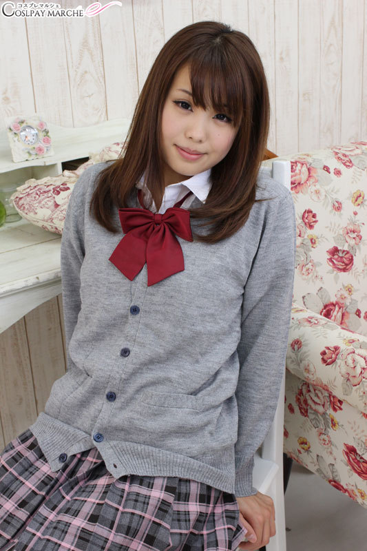 0a34766681 <☆ coupon usable immediately> knit cardigan Lady's knit cardigan one piece  of article M plain fabric cardigan costume play uniform school uniform high  ...
