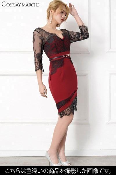 ナイトドレス すぐ使える 送料無料クーポン レース使いセクシーミニドレス パーティードレス キャバドレス ブルー Love RiSzVpUGMLq