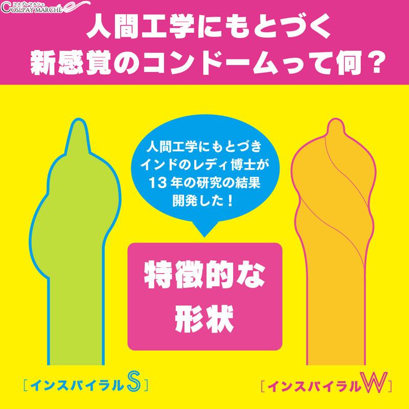 콘돔 피임 도구 SPIRAL W(인스파이라르다불)<감사제★>콘돔 피임 도구 염가 G PROJECT condom maru-v00800