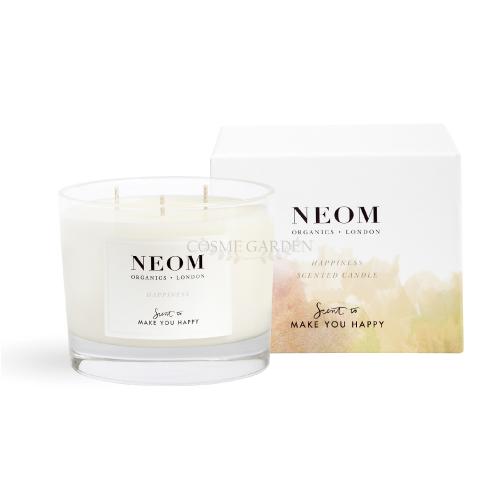 【NEOM】【ネオム】ラグジュアリーキャンドル(3本芯) HAPPINESS 420g 日用品雑貨  ラグジュアリーキャンドル キャンドル ホワイトネロリ ミモザ レモン