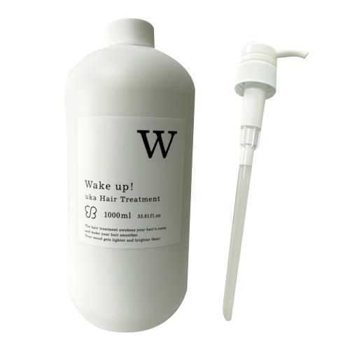 【UKA】【ウカ】uka Hair Treatment Wake up! BIG BOTTLE(ウカヘアトリートメント ウェイクアップ)1000mlヘアケア トリートメント