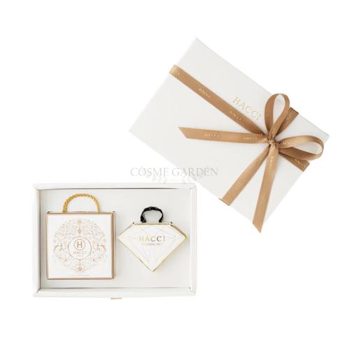 【HACCI ハッチ】スライドBOXギフトセット(はちみつ洗顔石けん 80g、キャンディーカラーリング 泡立てネット)スキンケアプレゼント 贈り物 セット