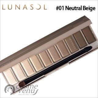 【ゆうパケット・定形外】LUNASOL ルナソル ザ ベージュアイズ #01 Neutral Beige 14g