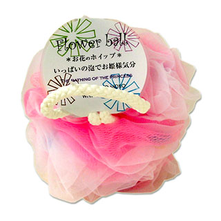 3 980円以上のご購入で送料無料 沖縄は9 800円以上 : フラワーボール yokozuna OUTLET SALE ボディスポンジ ピンク 超激得SALE ヨコズナ