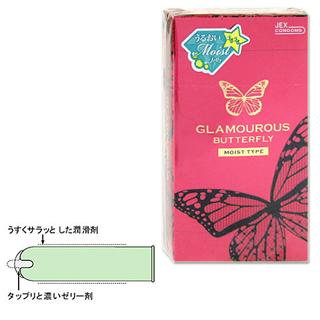 제크스그라마라스바타후라이모이스트 1000 12개들이(콘돔) GLAMOUROUS BUTTERFLY JEX CONDOMS *
