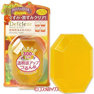 Piling light DET clear bright & Peel SOAP beauty SOAP 100 g MEISHOKU Detclear *.