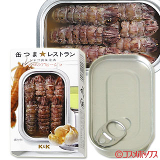 Kokubu K&K Delicious Canned food Pickled with mantis shrimp sauce Mantis shrimp with garlic flavor Net weight 35g (total weight 70g)
