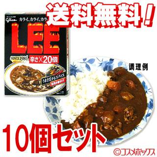 @##●10个安排格力高牛肉咖喱LEE(ri)辣*20倍200g*10个安排glico*