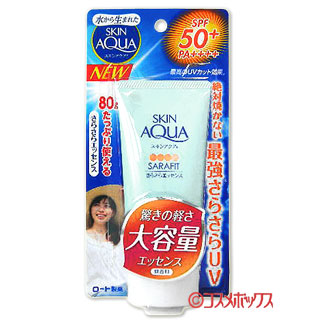 * * 로스 제약 스킨 아쿠아 사라 핏 UV 졸졸 에센스 SPF50/PA + 무 향료 + + + + 80g SKIN AQUA ROHTO *