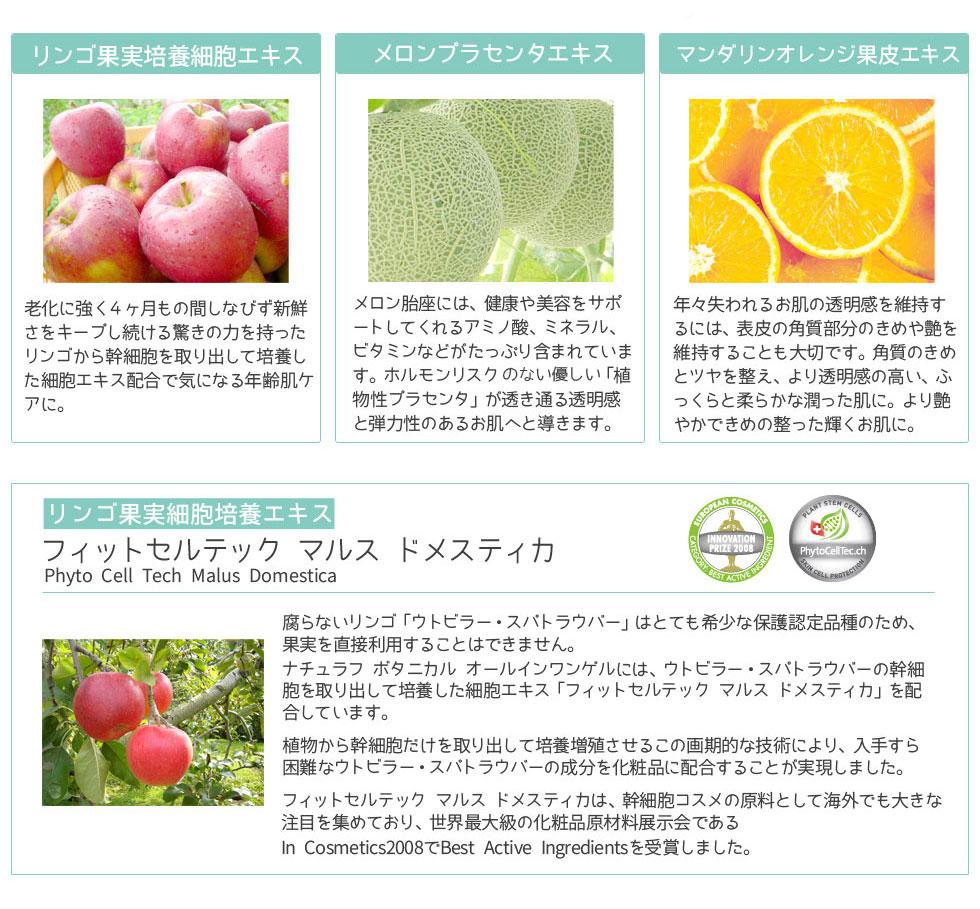 植物园全押一凝胶 200 g ★ 所有在一个凝胶植物多功能一体凝胶瓜胎盘/苹果干细胞提取牡丹根提取物和珍珠大麦提取物