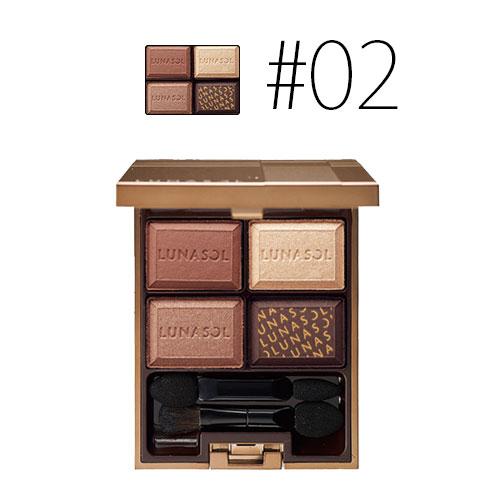 カネボウ ルナソル 【#02】セレクション ドゥ ショコラアイズ #Chocolat Amer 5.5g 【メイクアップ アイメイク アイシャドウ 4色 印象的】【LUNASOL】【W_71】