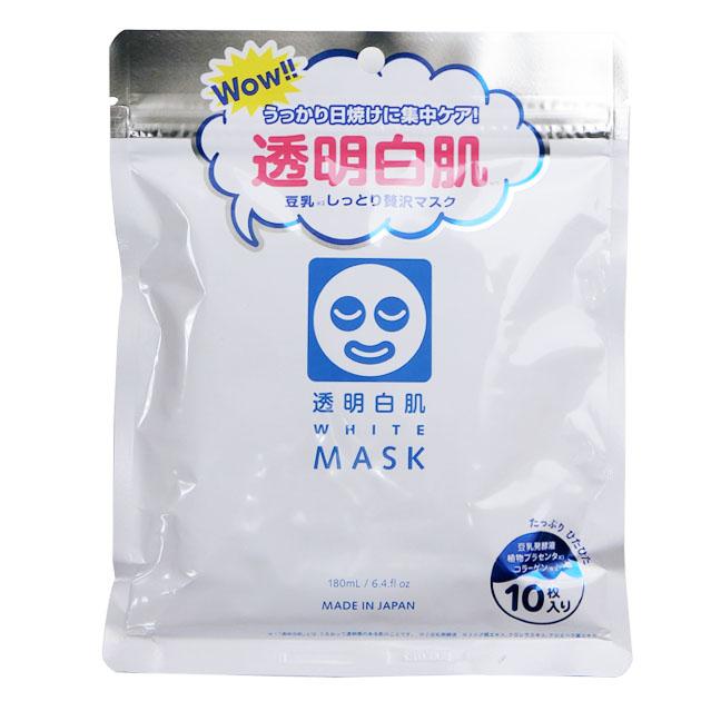 オンラインショップ うるおいと透明肌を同時に叶える贅沢マスク 石澤研究所 透明白肌 情熱セール 10枚入り ホワイトマスクN