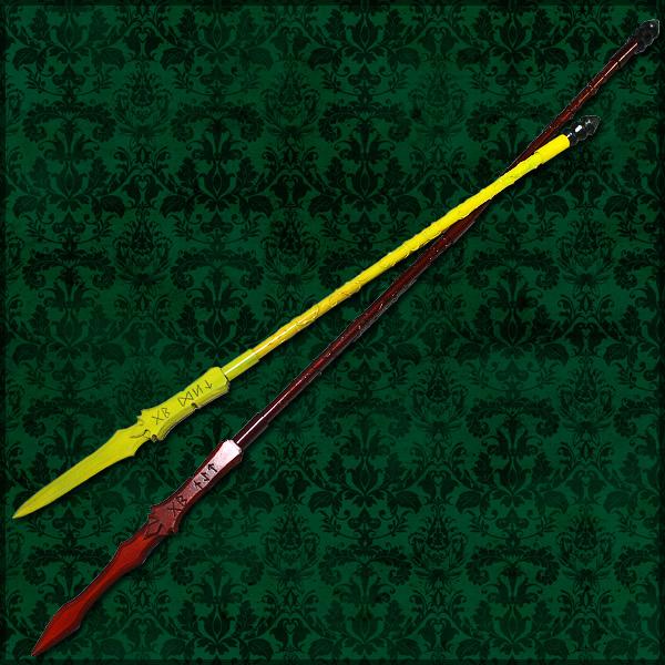 【コスプレ用小道具】Fate/Zero ランサー ディルムッド・オディナ 槍 破魔の紅薔薇(ゲイ・ジャルグ)と必滅の黄薔薇(ゲイ・ボウ)二本セット