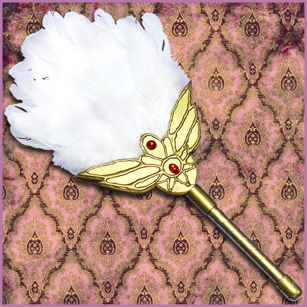 【コスプレ用小道具】マギ風 練白瑛 金属器 パイモン 白羽扇【受注製作】