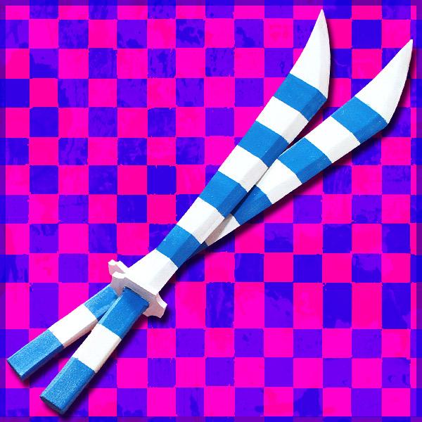 【コスプレ用小道具】パンティ&ストッキング ストッキング ストライプ1&2(二本セット)