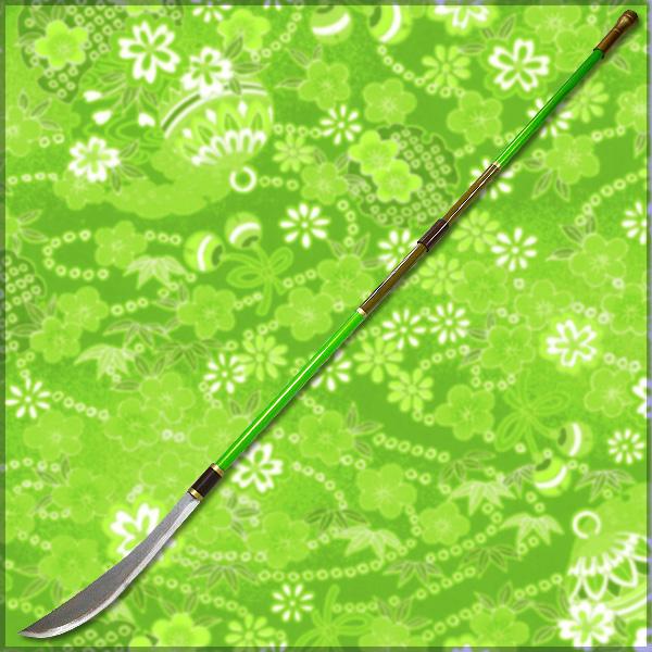 【コスプレ用小道具】戦国BASARA風 まつの薙刀 小狐