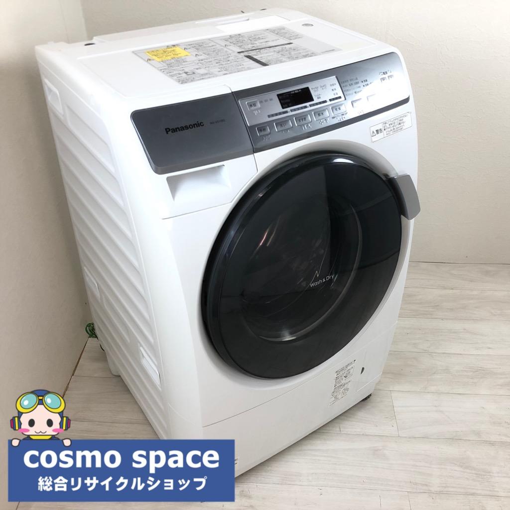【中古】 当店人気ドラム式洗濯機 洗濯6.0kg 乾燥3.0Kg パナソニック プチドラム NA-VD100L 2011年製 ホワイト 左開き 3ヶ月保証付