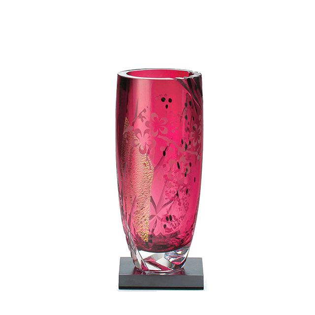 江戸硝子 専門店 紅玻璃 花器 花瓶 小 東洋佐々木ガラス LV68903-AU10 迎春 和風 ハンドメイド 日本製 ギフト AL完売しました 送料無料