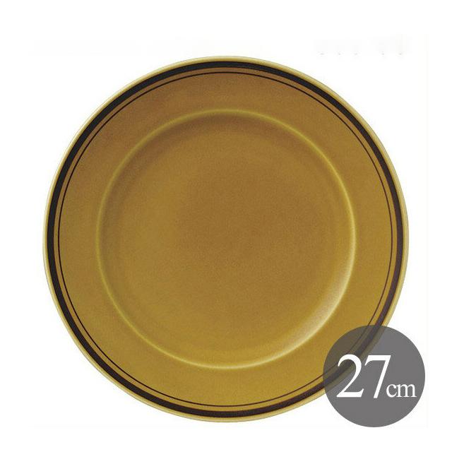 【送料無料】ディナー皿 27cm 6枚 カネスズ アメボーダー(07800402-6P)業務用