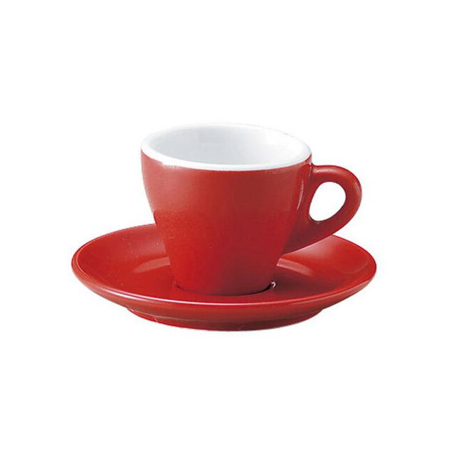 【送料無料】 エスプレッソ Homura カップ&ソーサー 80ml 6客 カネスズ プリート(54029947-6P)碗皿 業務用