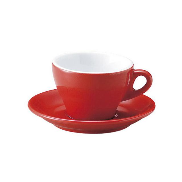 【送料無料】 カプチーノ Homura カップ&ソーサー 160ml 6客 カネスズ プリート(54029948-6P)碗皿 業務用