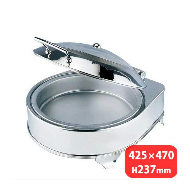 【送料無料】KINGO 電気丸チェーフィングデッシュ ガラスカバータイプ D201(NKV0701)7-1504-0401 業務用