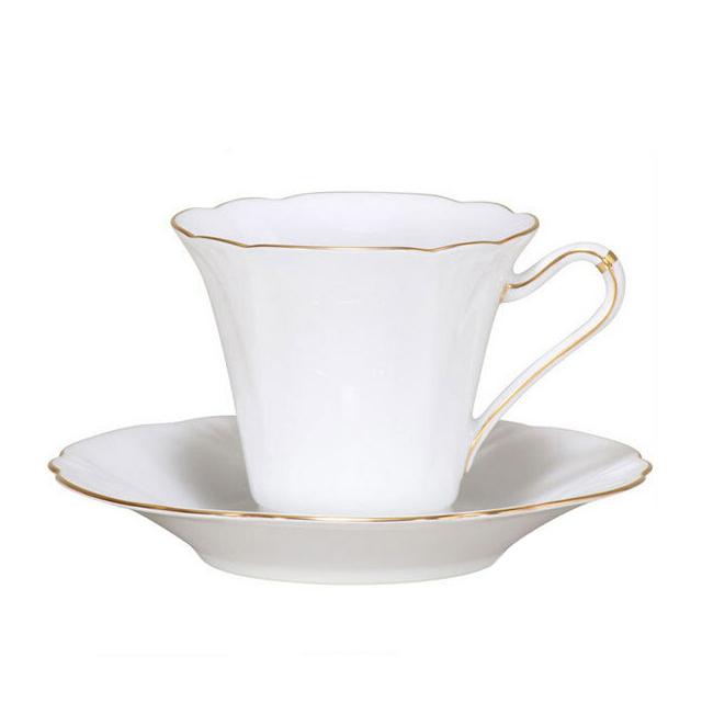 【送料無料】大倉陶園 ゴールドライン カップ&ソーサー(80C-1001)(大倉陶園OKURA洋食器白磁)(カップ&ソーサー碗皿)ギフト
