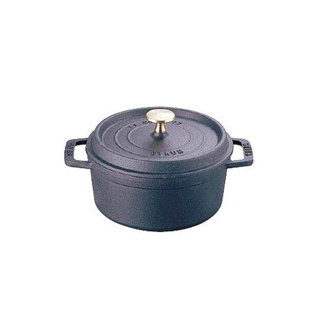 ストウブ ラウンドシチューパン(ブラック) 20cm (6-0074-0106) [ストウブSTAUB][送料無料]