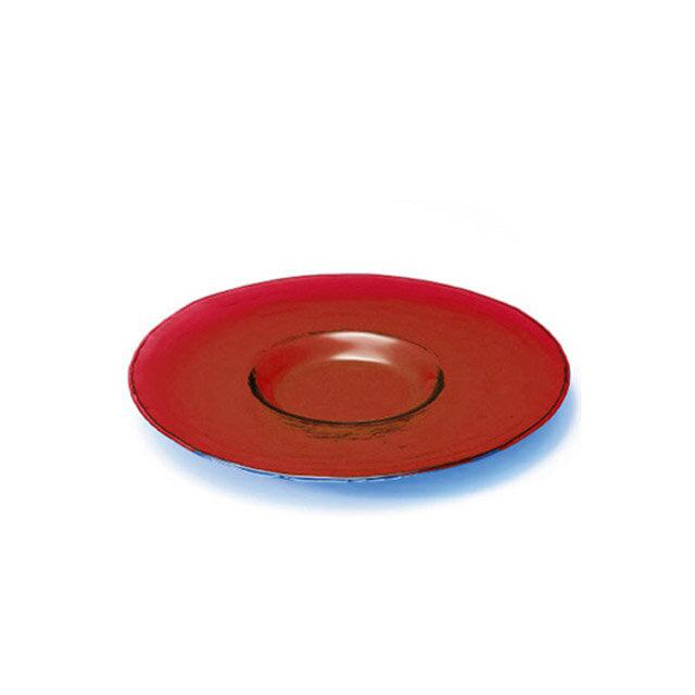 ガラス 皿 食器 プレート 230 レッド 3個セット ダブルエフ リムレット アデリア/石塚硝子(F-71729)