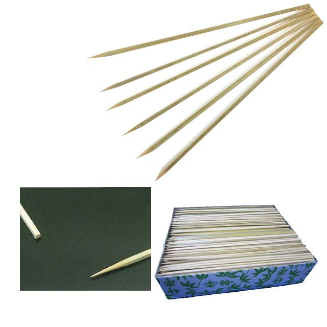 【送料無料】竹角串 約3mm角 18cm 1kg箱(約800本入)×6箱(約4800本入)(06069)(店舗用品)(料理演出)