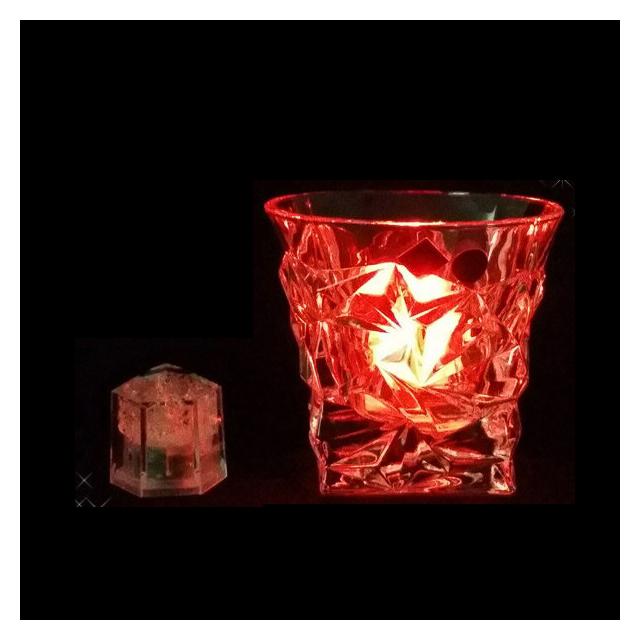 ライトキューブ クリスタル レッド 24個セット 標準輝度モデル (6-1582-0901) [水に触れたら光るライトチューブ][送料無料]