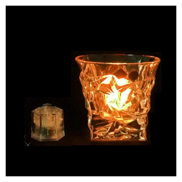 ライトキューブ クリスタル オレンジ 24個セット 標準輝度モデル (6-1582-0902) [水に触れたら光るライトチューブ][送料無料]