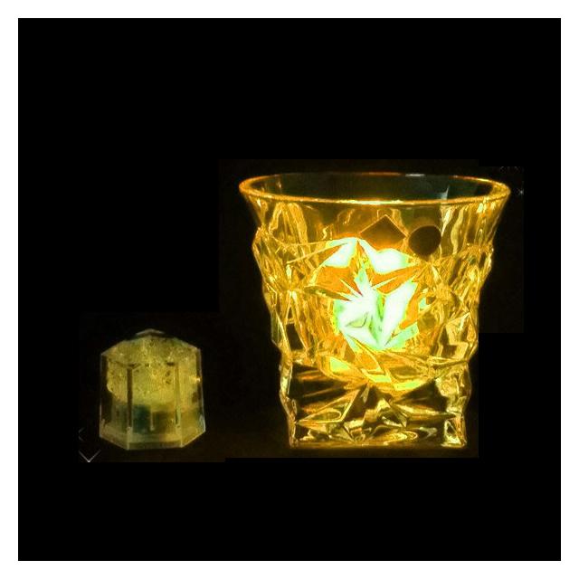 【送料無料】ライトキューブ・クリスタル 標準輝度 24個入 イエロー(PLI4303)7-1660-0903