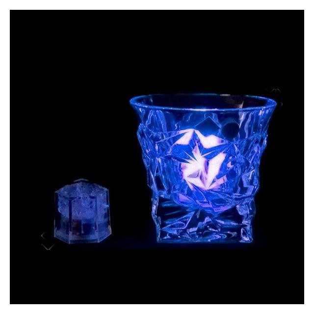 ライトキューブ クリスタル ブルー 24個セット 高輝度モデル (6-1582-1001) [水に触れたら光るライトチューブ][送料無料]