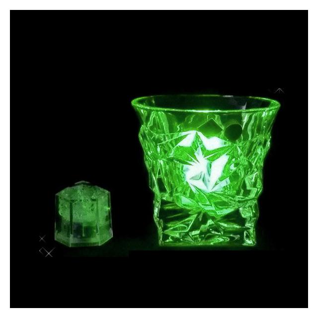 ライトキューブ クリスタル グリーン 24個セット 高輝度モデル (6-1582-1002) [水に触れたら光るライトチューブ][送料無料]