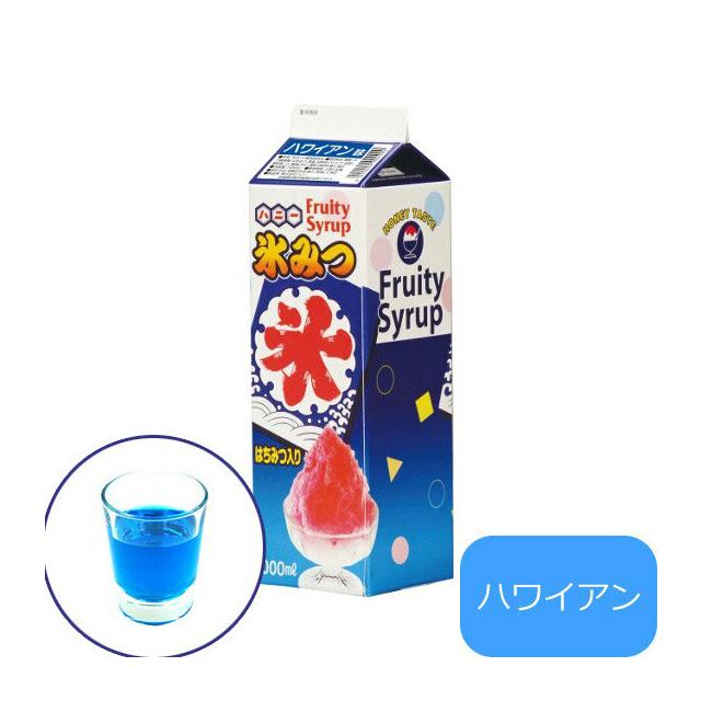 氷みつ レギュラータイプ 12本入 ハワイアン 1L (FKO2106) 7-0893-0406(業務用)