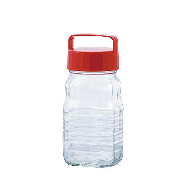 【送料無料】ペットボトル型貯蔵びん 小分けちゃん 1.2L 12セット アデリア/石塚硝子(792)果実酒 びん梅 酒ビン 保存容器