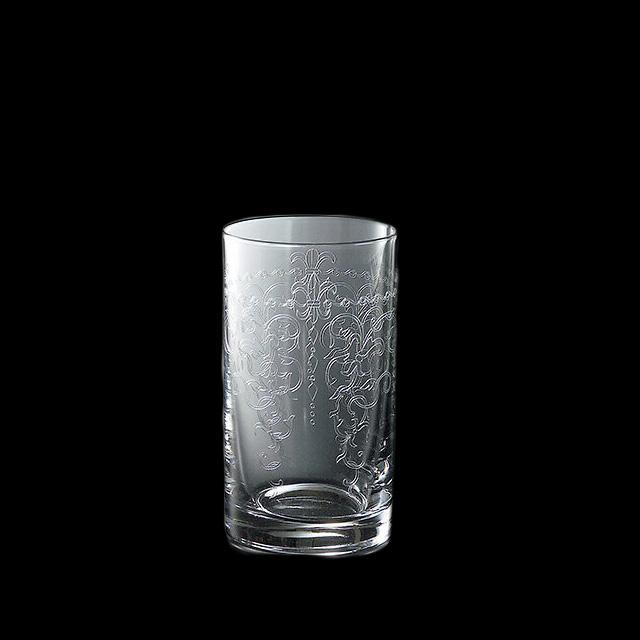 【送料無料】タンブラー 230-1 230ml 6個入 バッカス 青山硝子(MC-7004)(クリスタル)(バロック調)(タンブラー 業務用