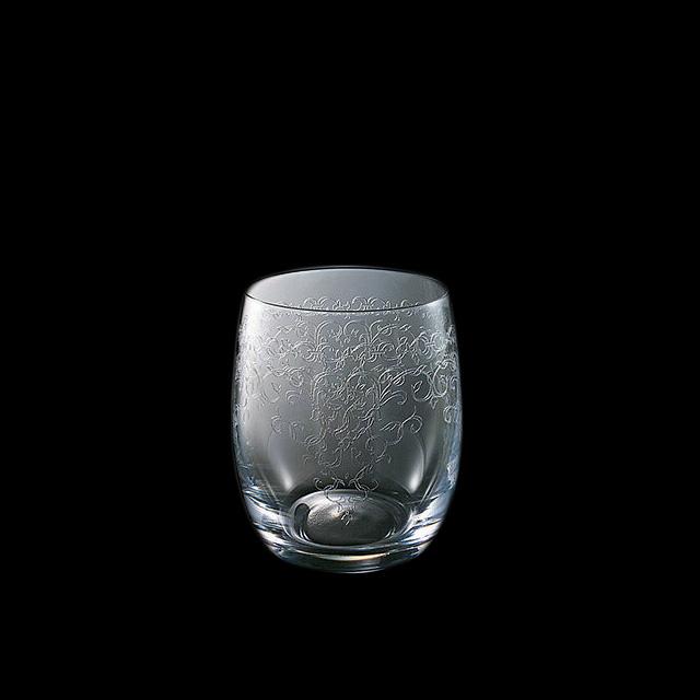 【送料無料】ロックグラス オールド 300-3 350ml 6個入 バッカス 青山硝子(MC-7018)(クリスタル)(バロック調)(オールド)業務用