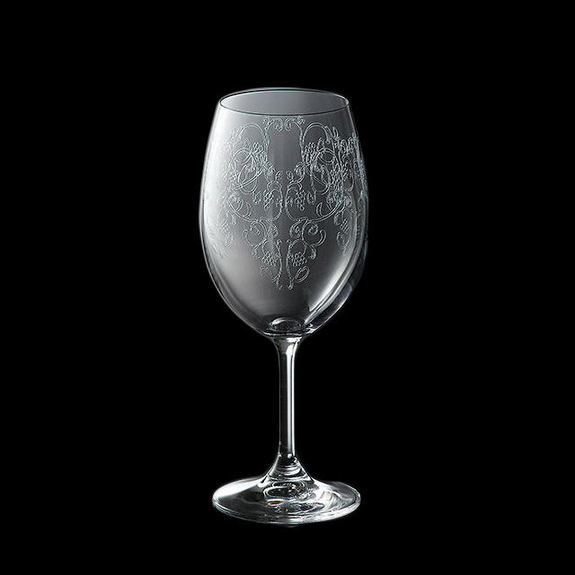【送料無料】ワイングラス 450-1 470ml 6個入 バッカス 青山硝子(MC-7023)(クリスタル)(バロック調ワイン ワイングラス 業務用