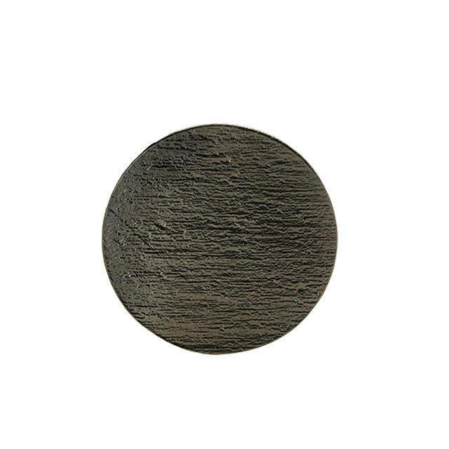 食器皿 15cmサークル 黒陶 6個セット 日比野陶器 (H02-003-279)(GOURMET)(プレート皿)