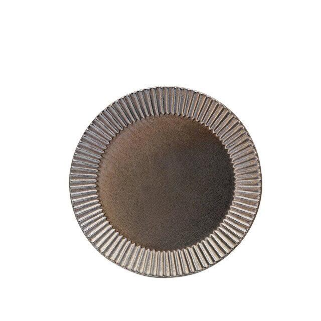 【送料無料】食器皿 26cmプレート(ブラックゴールド)Eccleエクレ 6個セット 日比野陶器(H03-078-276)(GOURMET)(プレート皿)
