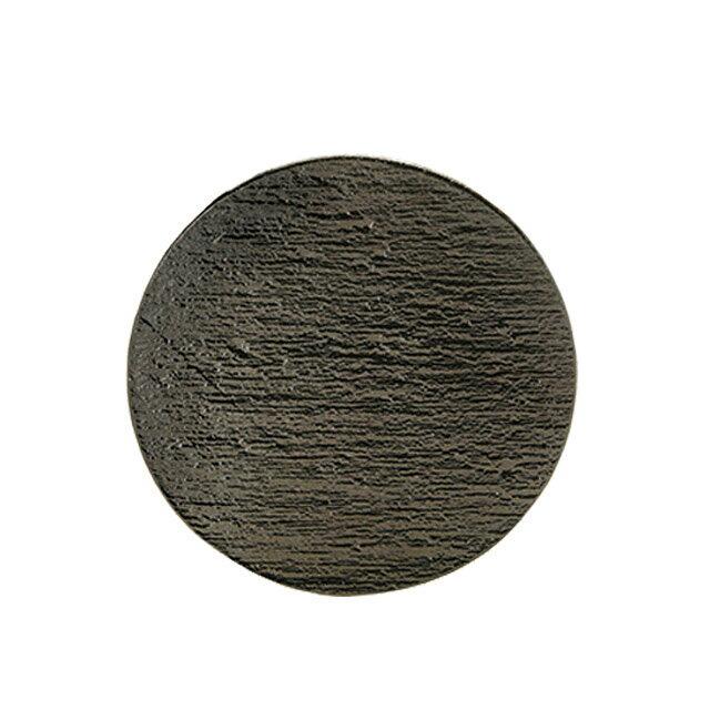 【送料無料】食器皿 20cmサークル 黒陶 6個セット 日比野陶器(H03-089-279)(GOURMET)(プレート皿)