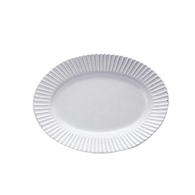 【送料無料】食器皿 29cmプラター(アッシュホワイト)Eccleエクレ 6個セット 日比野陶器(H09-007-276)(GOURMET)(プレート皿)