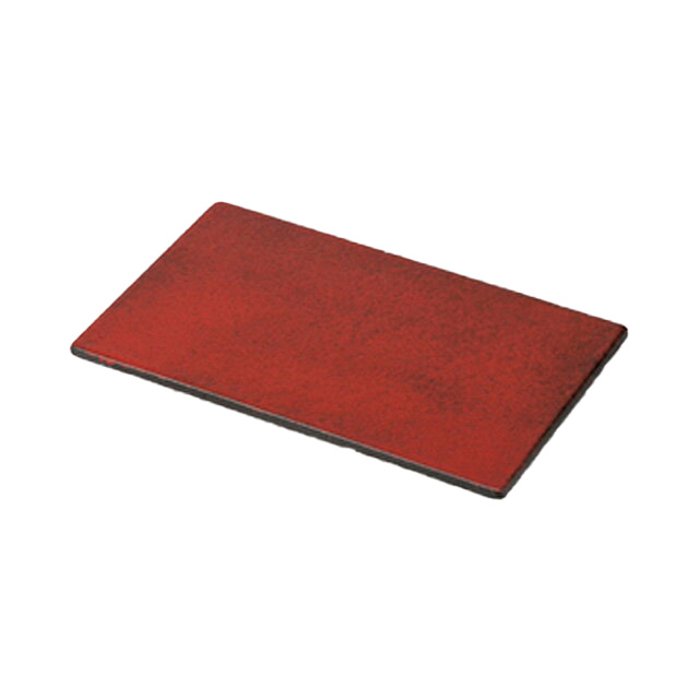 【送料無料】食器皿 紅黒炭三つ足長角皿 Alacarte/アラカルト(和)6個セット 日比野陶器(H46-008-281)(GOURMET)(プレート)