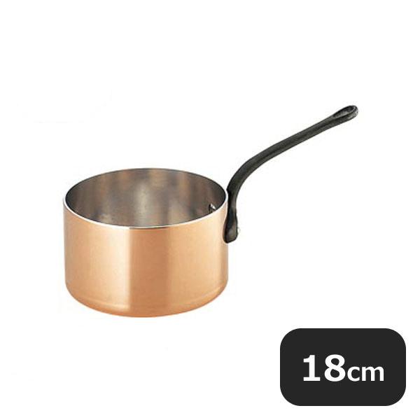 【送料無料】銅極厚深型片手鍋 鉄柄18cm (2.7L) (009003) [業務用 大量注文対応]