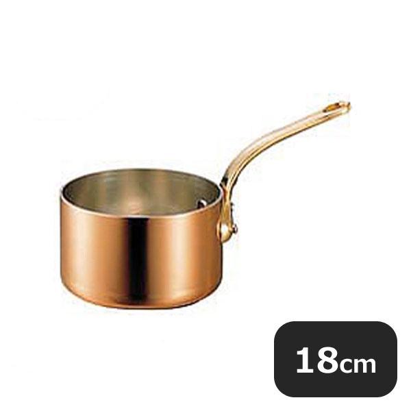 【送料無料】銅極厚深型片手鍋 真鍮柄18cm (2.7L) (009004) [業務用 大量注文対応]