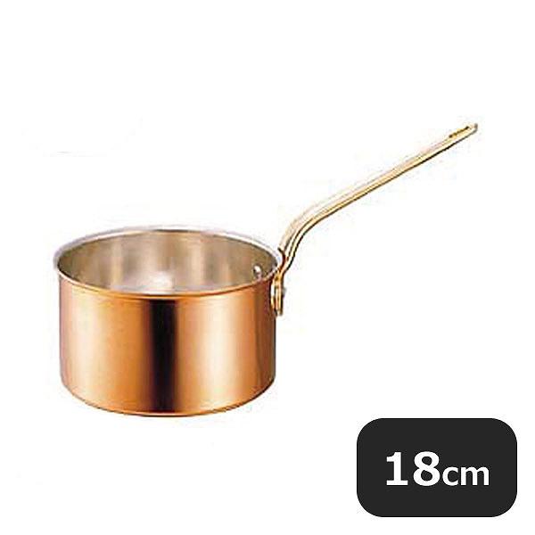【送料無料】銅片手鍋 深型 蓋付 18cm (2.7L) (009057) [業務用 大量注文対応]